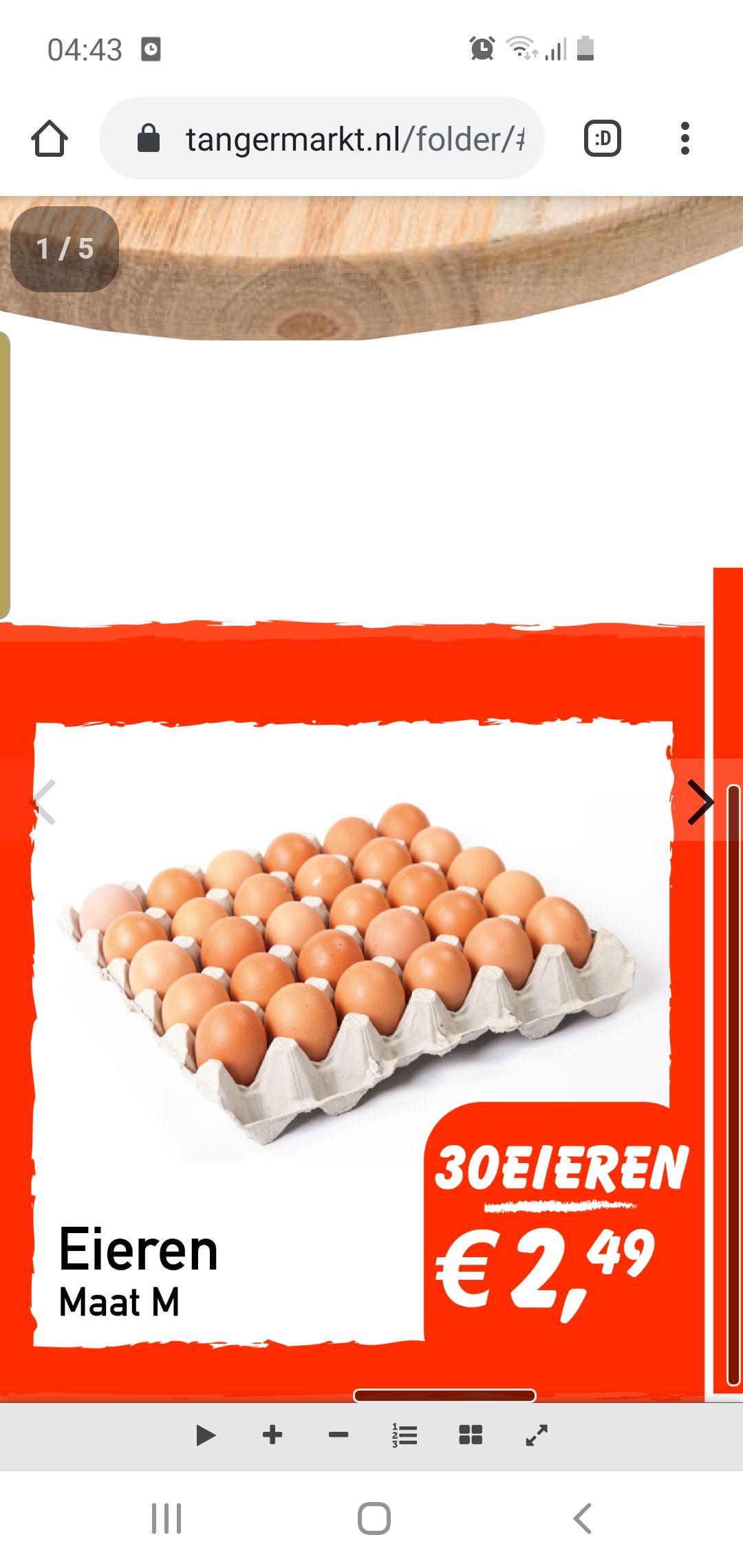 [Lokaal] 30 eieren maat M @ Tanger supermarkt