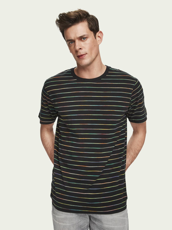 Scotch & Soda Space dye stripe t-shirt