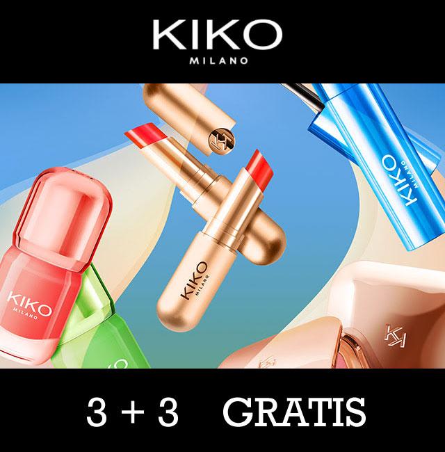 3 + 3 GRATIS - ook sale + €5 EXTRA (va €30) @ KIKO Milano