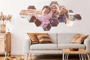 -80% op één eigen foto verspreid over meerdere squares of hexagons - v.a. €5,59