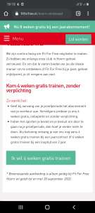 Gratis trainen Fit For Free
