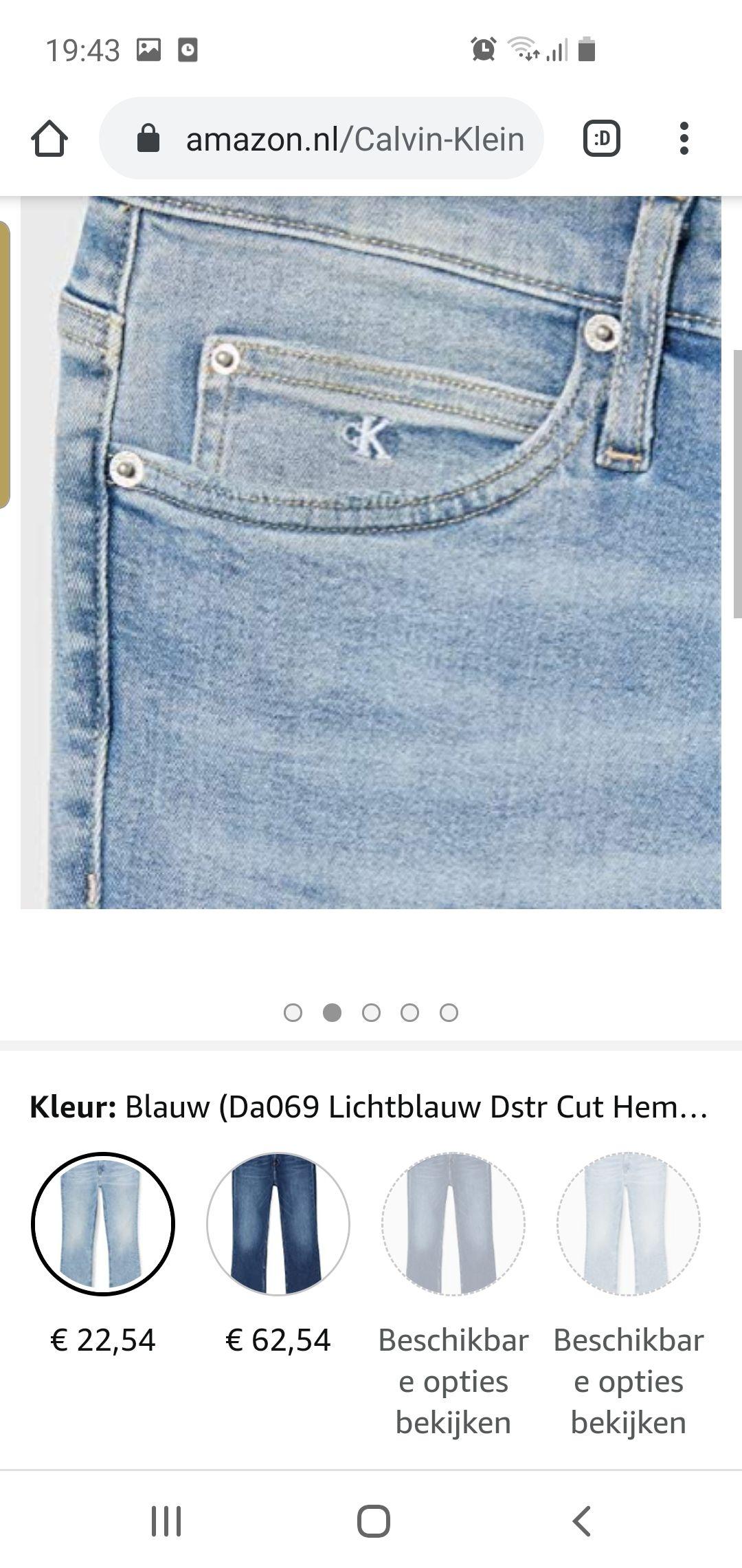 Calvin klein jeans dames spijkerbroek