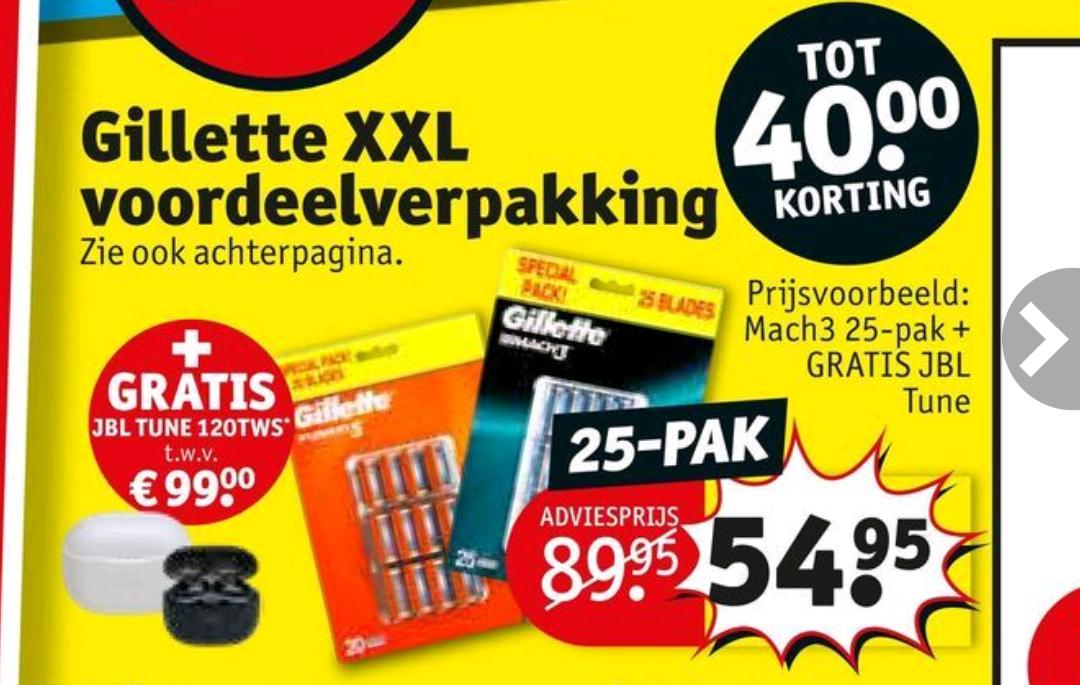 JBL Tune 120TWS + Gillette XXL voordeelverpakking @ Kruidvat