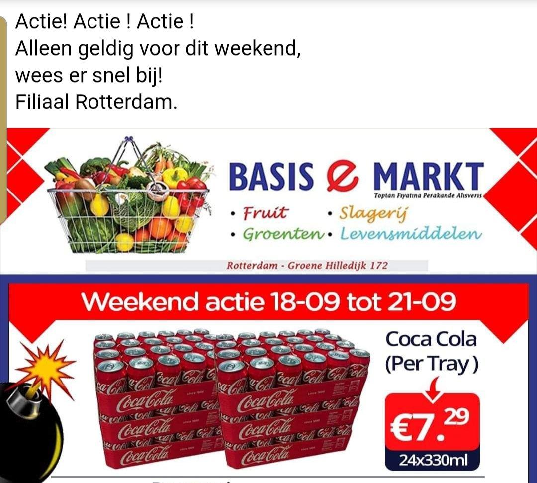 [lokaal] 24 coca cola 24 x 330ml @ e basis markt Rotterdam