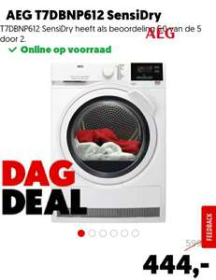 Mediamarkt dagdeal: AEG Warmtepompdroger