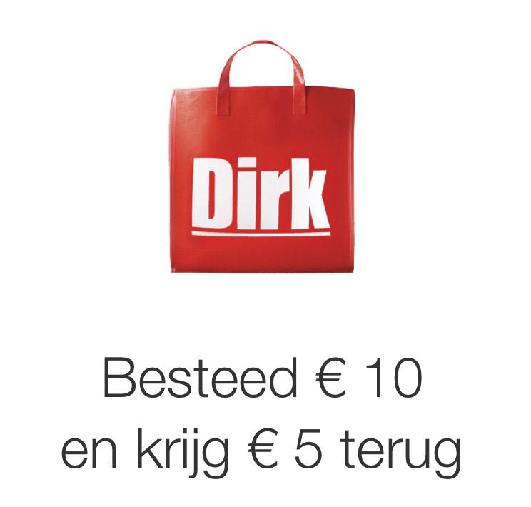 American Express: Besteed € 10 bij Dirk en krijg € 5 terug