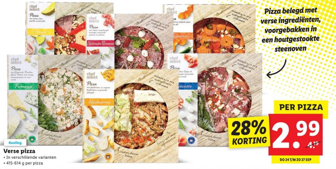 [Vanaf donderdag] Verse pizza voor €2,99 @ Lidl