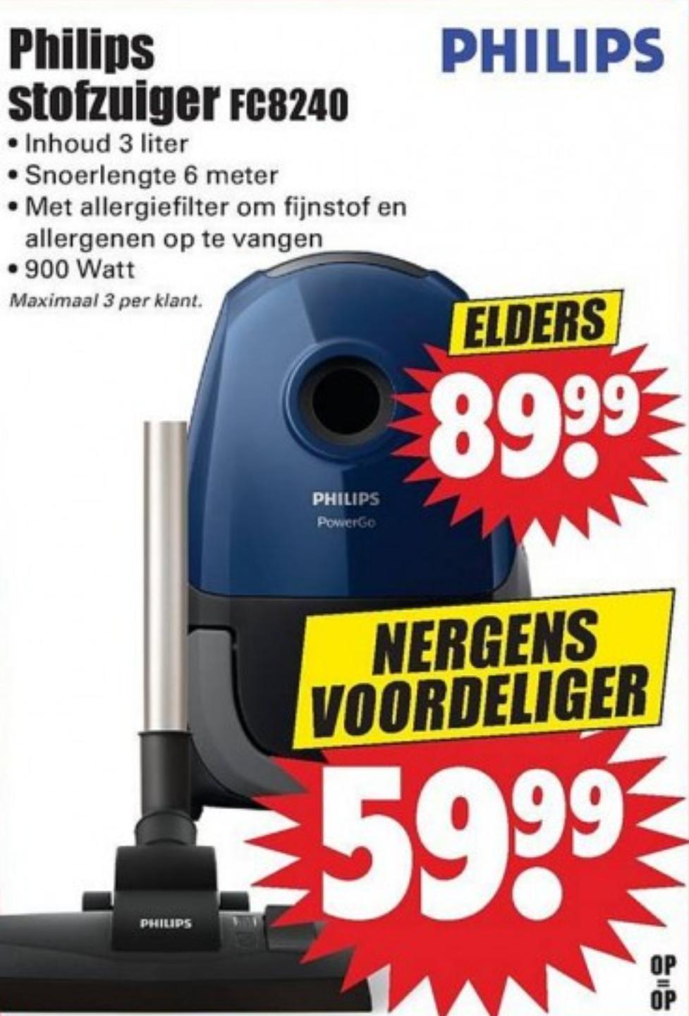 [Vanaf donderdag] Philips FC8240/09 stofzuiger @ Dirk