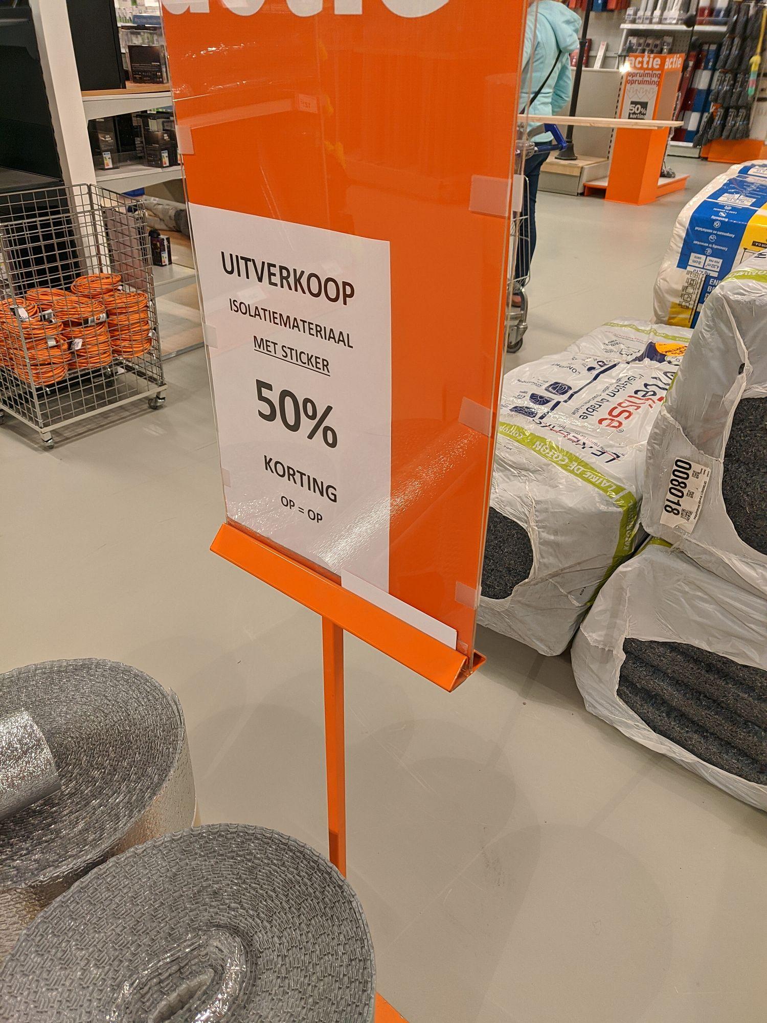 [lokaal] 50% korting op veel isolatie bij gamma in de winkel