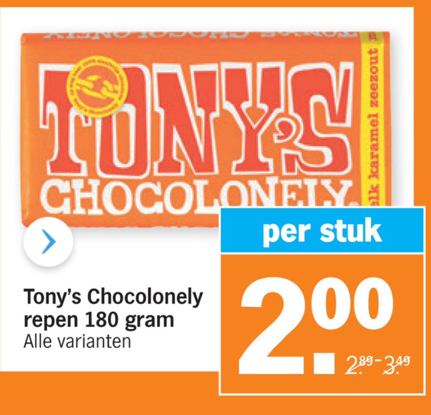Tony Chocolonely 2 Euro per stuk