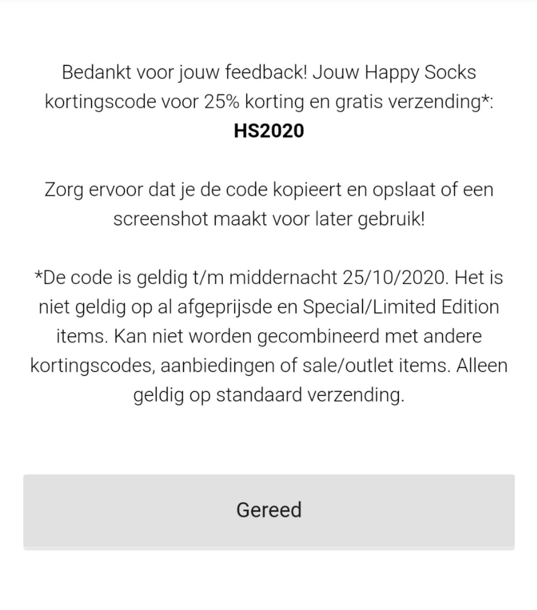 Gratis verzending & 25% korting Happy Socks