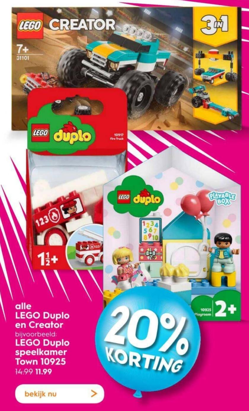 Vanaf maandag 20% korting op Lego Duplo en Creator