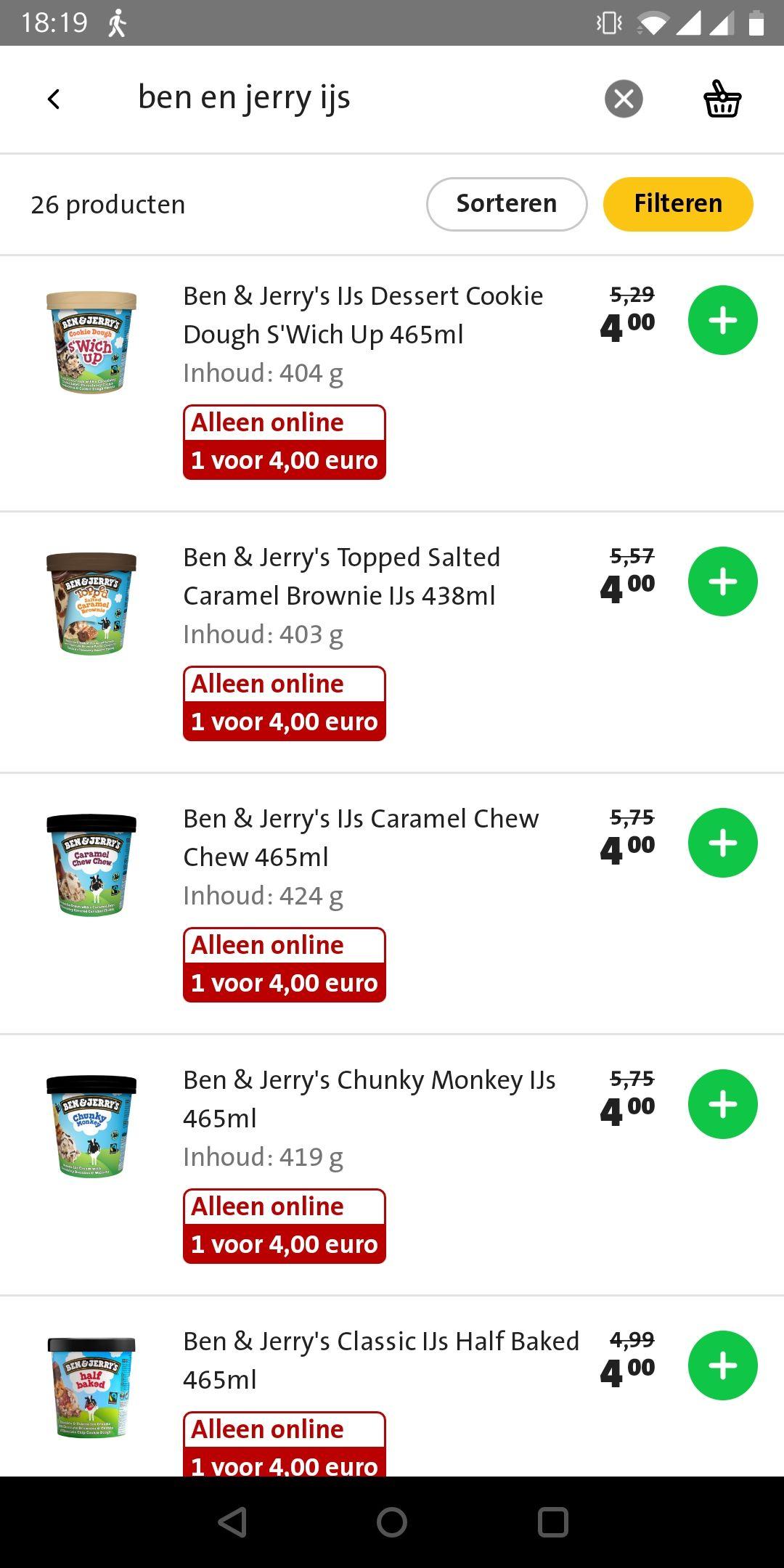Ben & Jerry's IJs Jumbo Online
