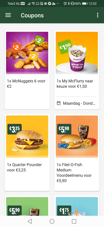 McFlurry €1,50 + andere McDonald's aanbiedingen (week 38)