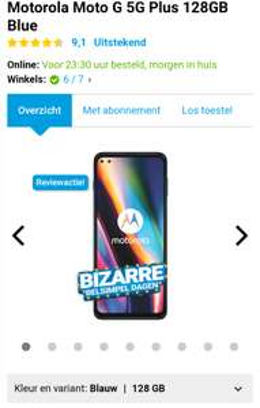 [Laagste prijs ooit] Motorola Moto G 5G Plus 128GB @ Belsimpel