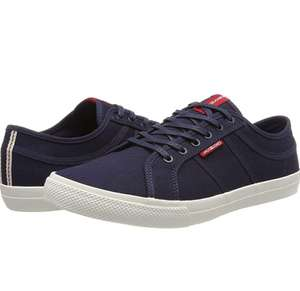 Jack & Jones Heren Jfwross Canvas Navy Sneakers