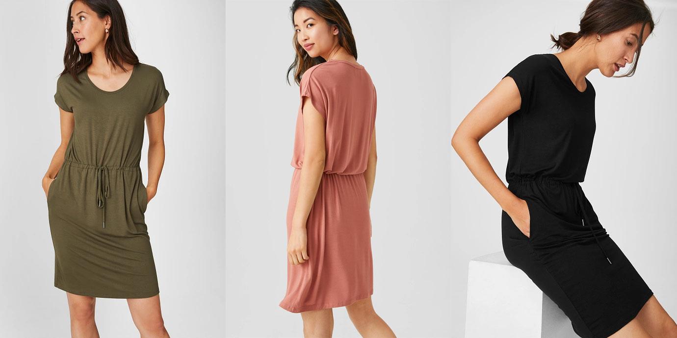 Basic jurk - 3 kleuren -65% @ C&A
