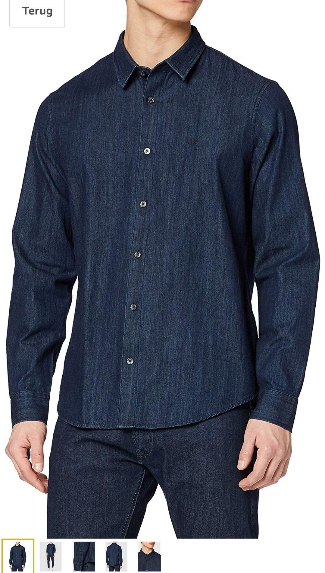 Armani Exchange Heren Denim Overhemd