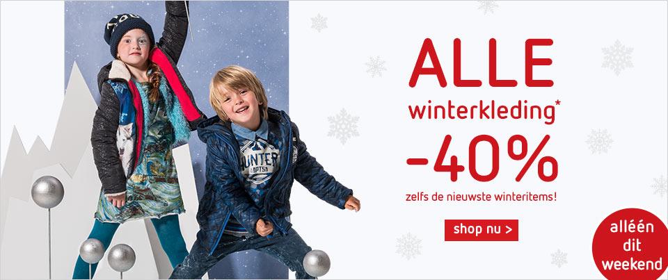 40% korting op volledige wintercollectie kleertjes.com