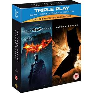 Batman Begins / The Dark Knight: Triple Play (5 Discs) (Blu-ray) voor € 6,48 @ Play.com