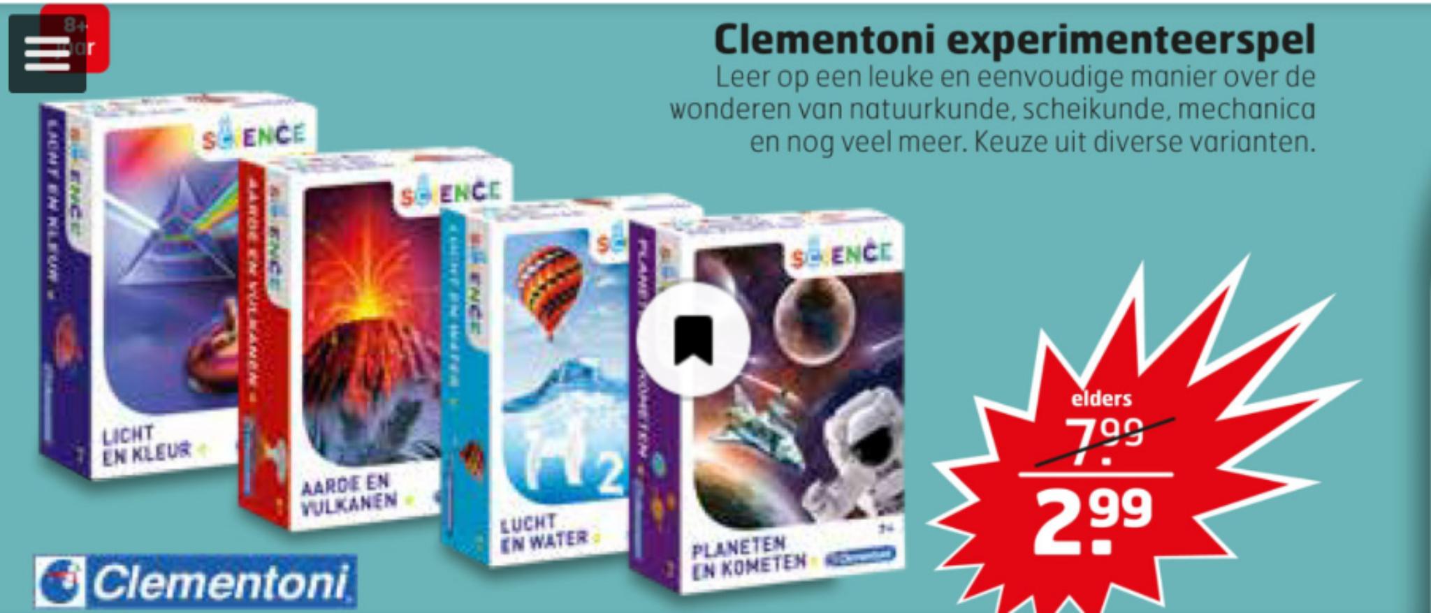 Clementoni Experimenteerspel bij Trekpleister