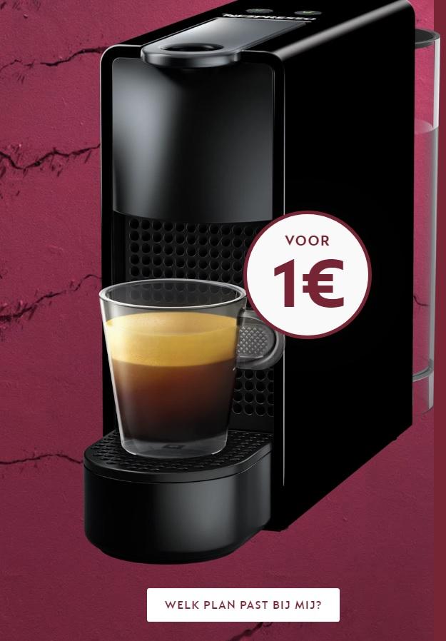 Een Nespresso apparaat voor 1 euro (icm een koffieplan)