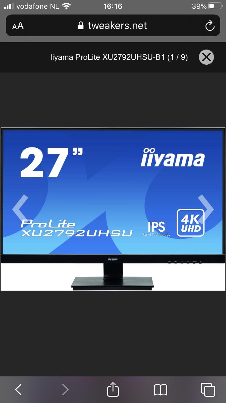 iiyama ProLite monitor XU2792UHSU-B1
