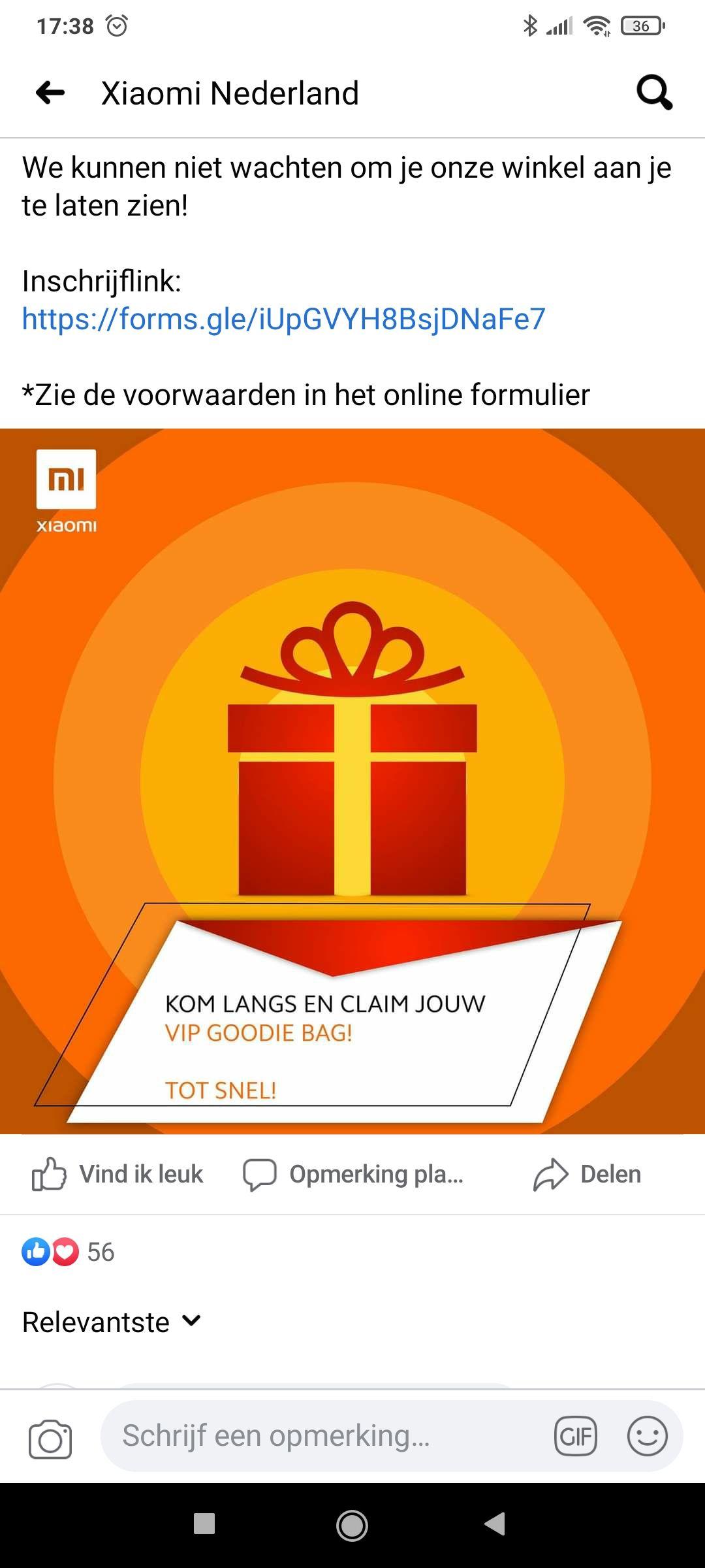 Gratis VIP goodiebag Xiaomi + kortingsvouchers (Rotterdam)