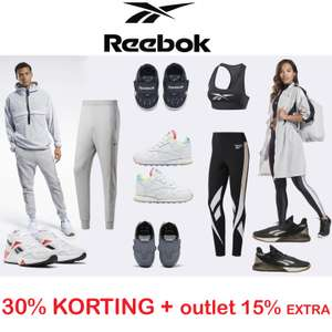 30% korting [code] + 15% extra op outlet @ Reebok