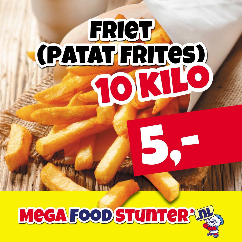 10KG friet €5.-
