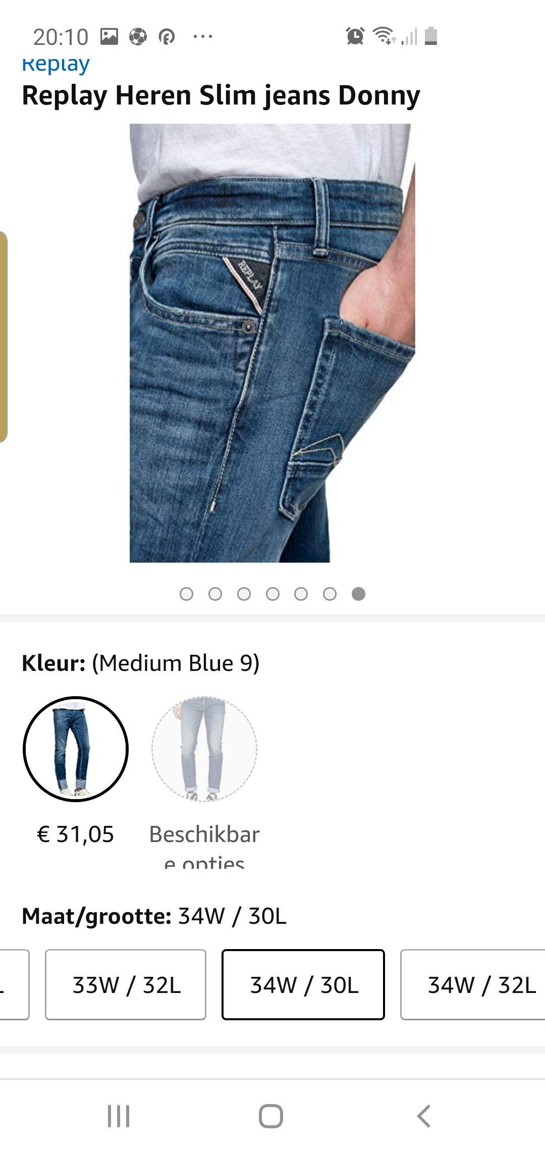 Replay heren spijkerbroek