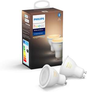 Philips Hue Spot 2-Pack, GU10 White Ambiance