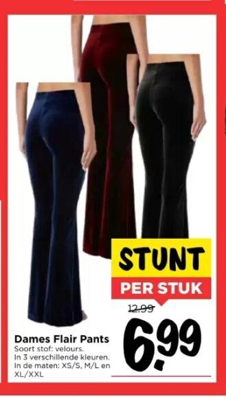 Dames flair pants / flaired broek @Vomar