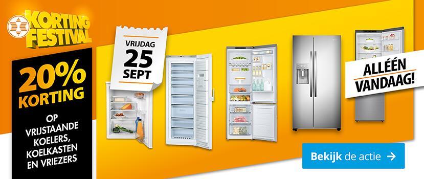 Vandaag 20% korting op vrijstaande koelers, koelkasten en vriezers @ Expert