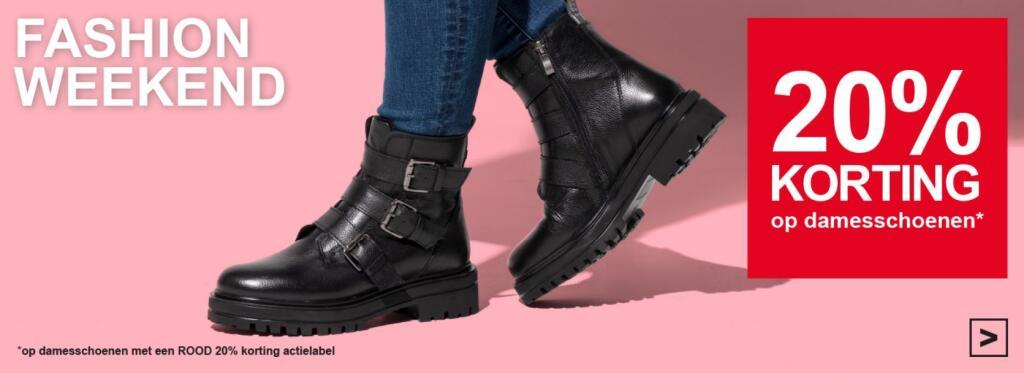 20% korting op damesschoenen bij Scapino