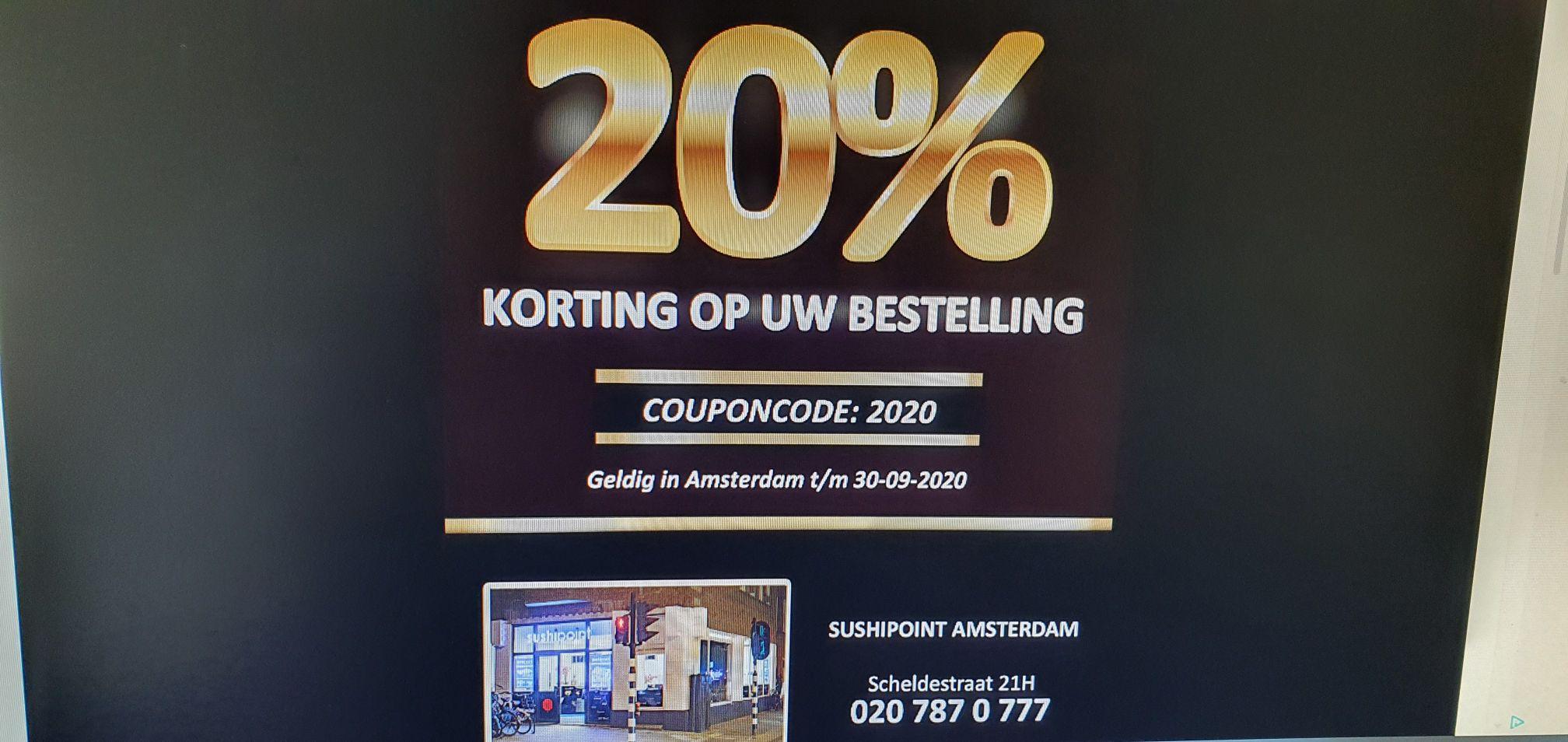 Sushipoint Amsterdam korting