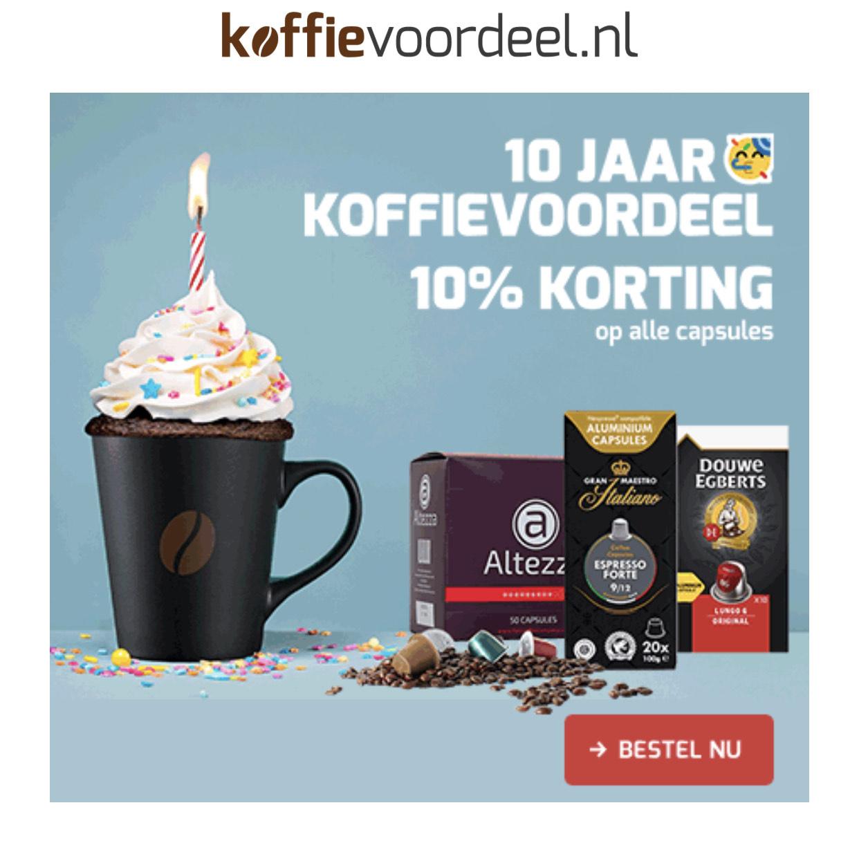 Koffievoordeel 10% korting