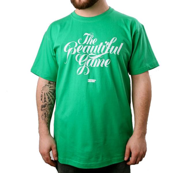 FootballCulture - The Beautiful Game T-shirt - Groen van 34,95 voor 19,95