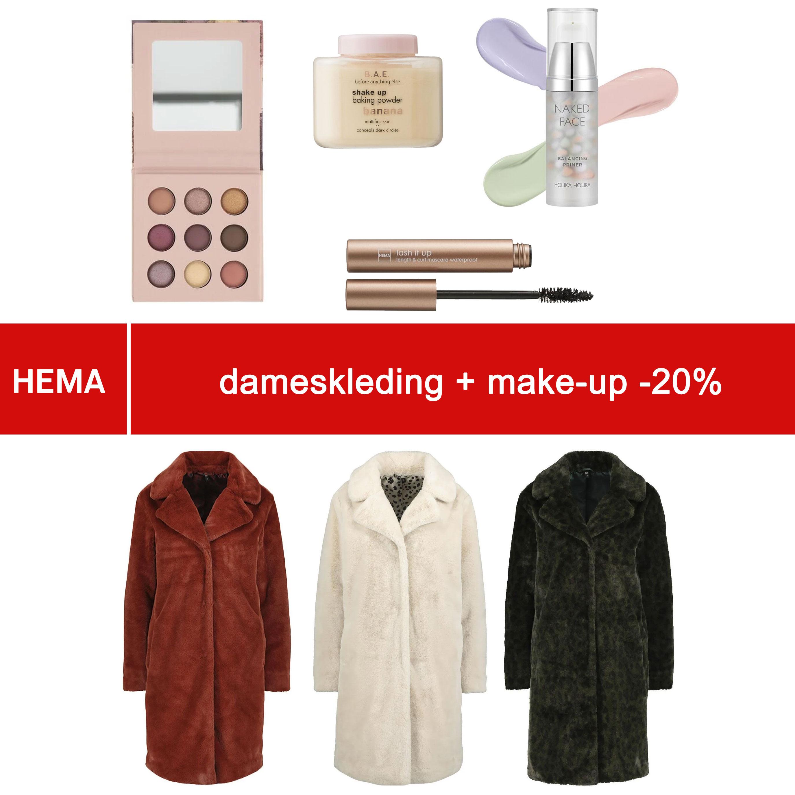 Glamourday: 20% korting op damesmode + make-up @ HEMA