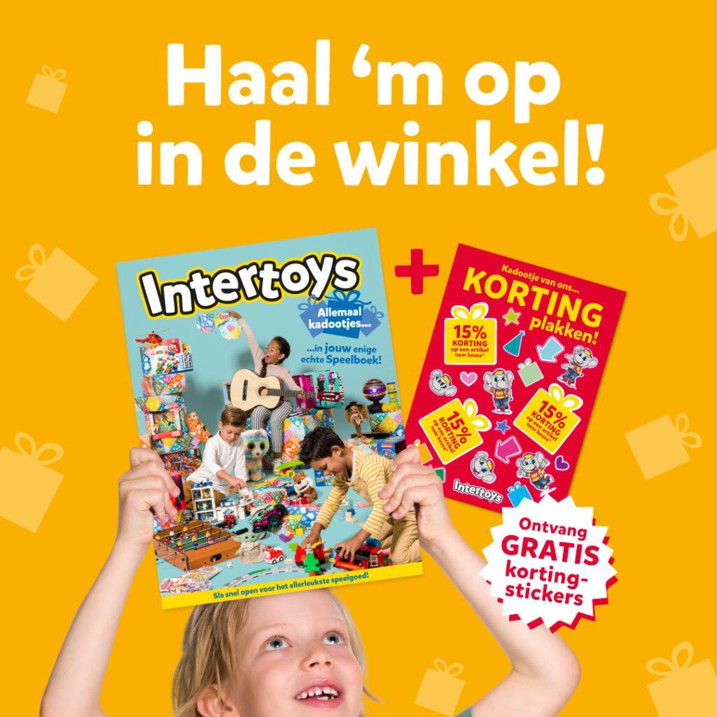 3x 15% kortingssticker voor speelgoed @ Intertoys