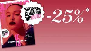 Glamour Day: 25% korting op bijna alles @ Douglas
