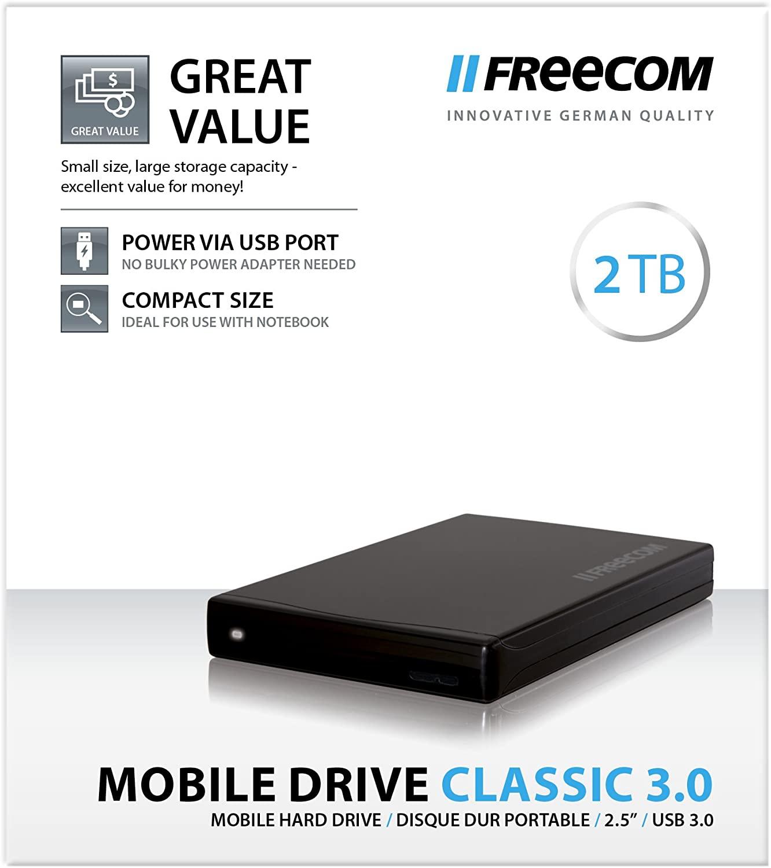 Freecom Mobile Drive Classic 3.0 2TB Zwart @ Media Markt