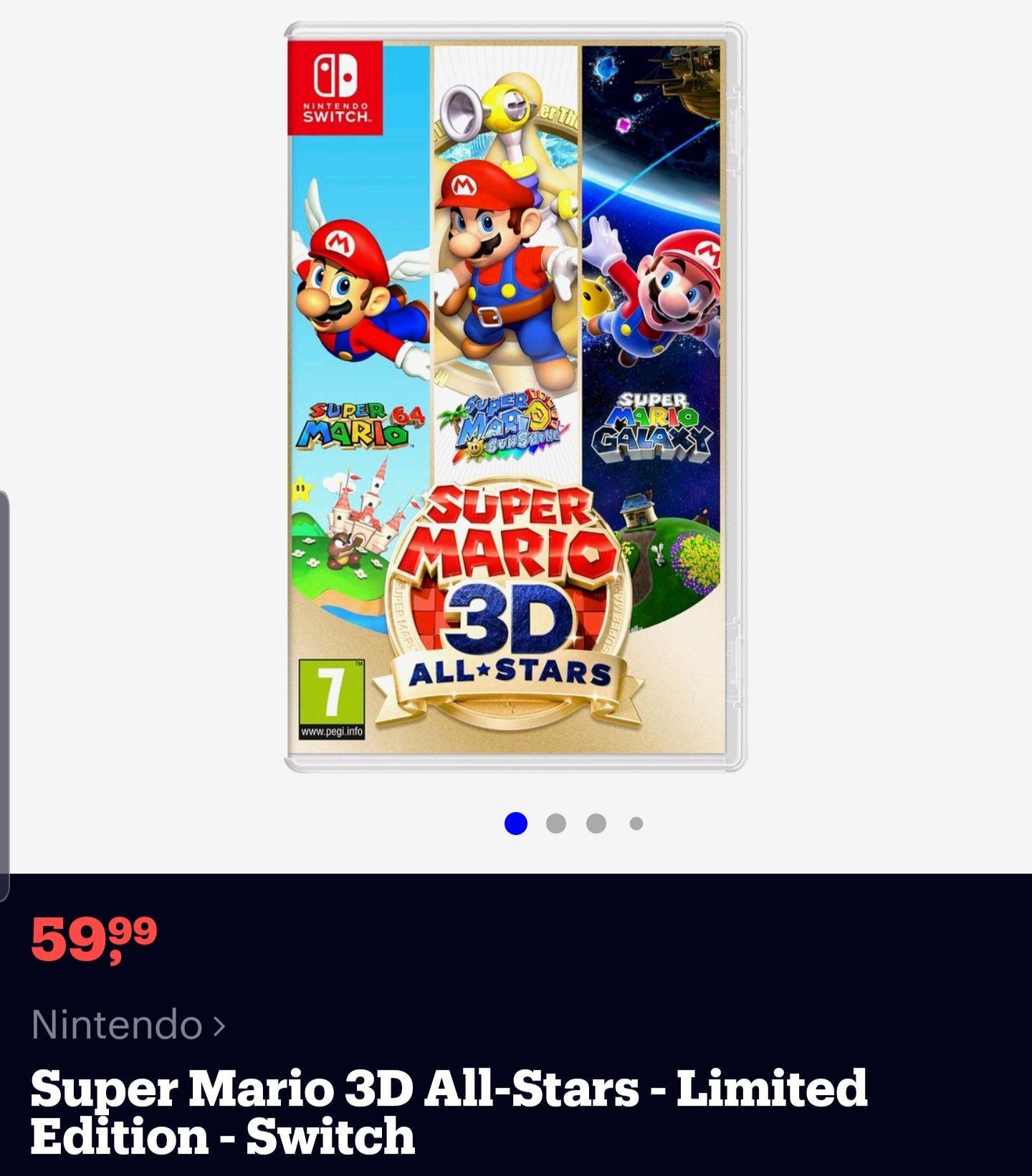 (OP VOORRAAD) Super Mario 3d allstars!