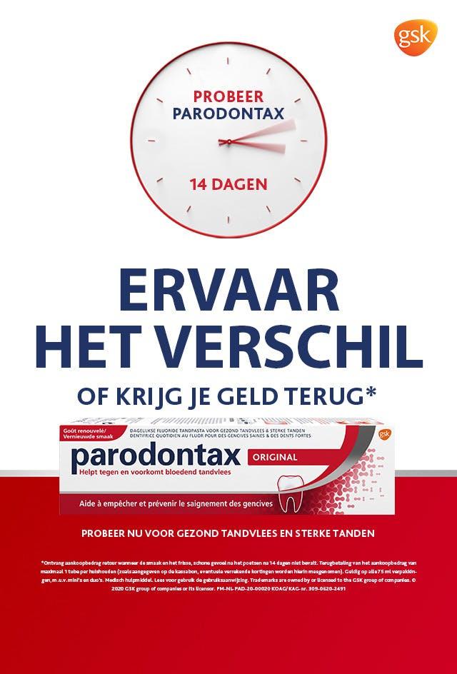 Gratis tube Parodontax tandpasta