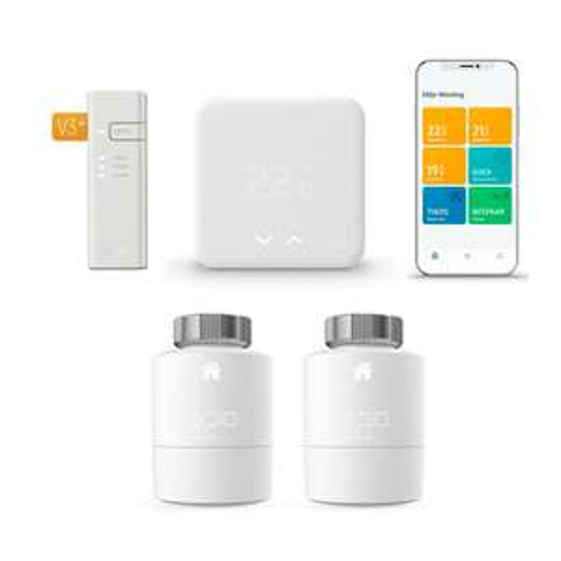 Tado Thermostaat Starter Kit V3+ + Radiatorknoppen 2-pack + Installatieservice of Google Nest Mini @Tink.nl