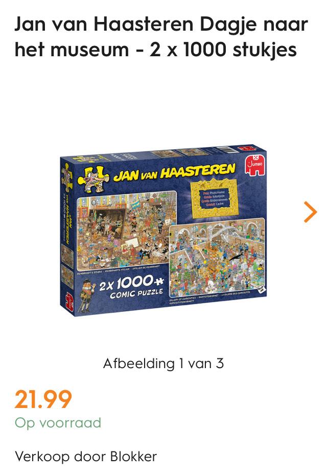Jan van Haasteren puzzel 2 x 1000 stuks