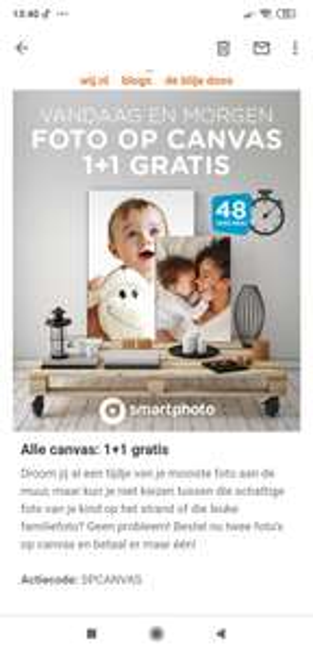Canvas 1 + 1 gratis
