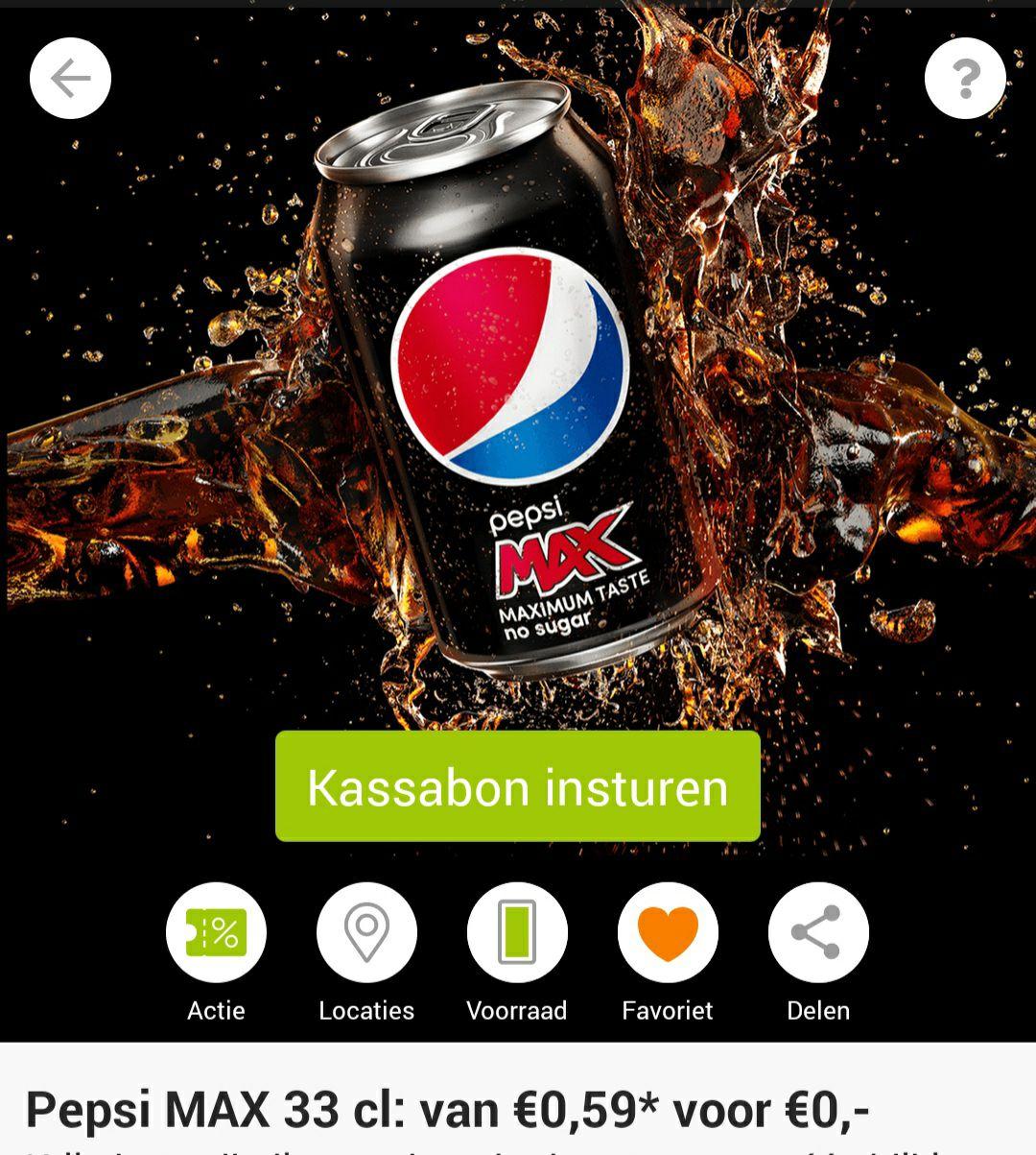 Gratis blikje Pepsi Max bij SCOUPY!