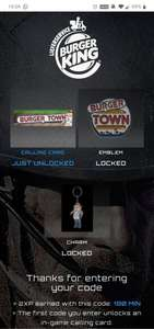 Gratis Call of Duty: MW Unlimited Double XP + Burger King Emblem & Charm & Calling Card