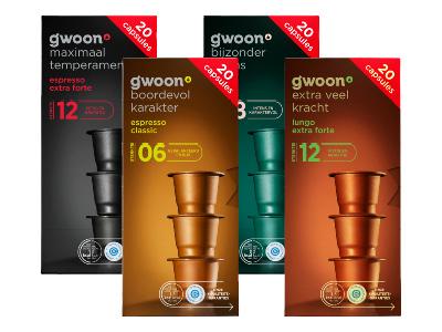 80 G'woon Koffiecups Espresso of Lungo (Nespresso Compatible) voor €5,49 @ Hoogvliet (6,9 ct/stuk)